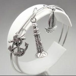 Jewelry - NAUTICAL SAILBOAT LIGHTHOUSE ROPE ANCHOR BRACELET